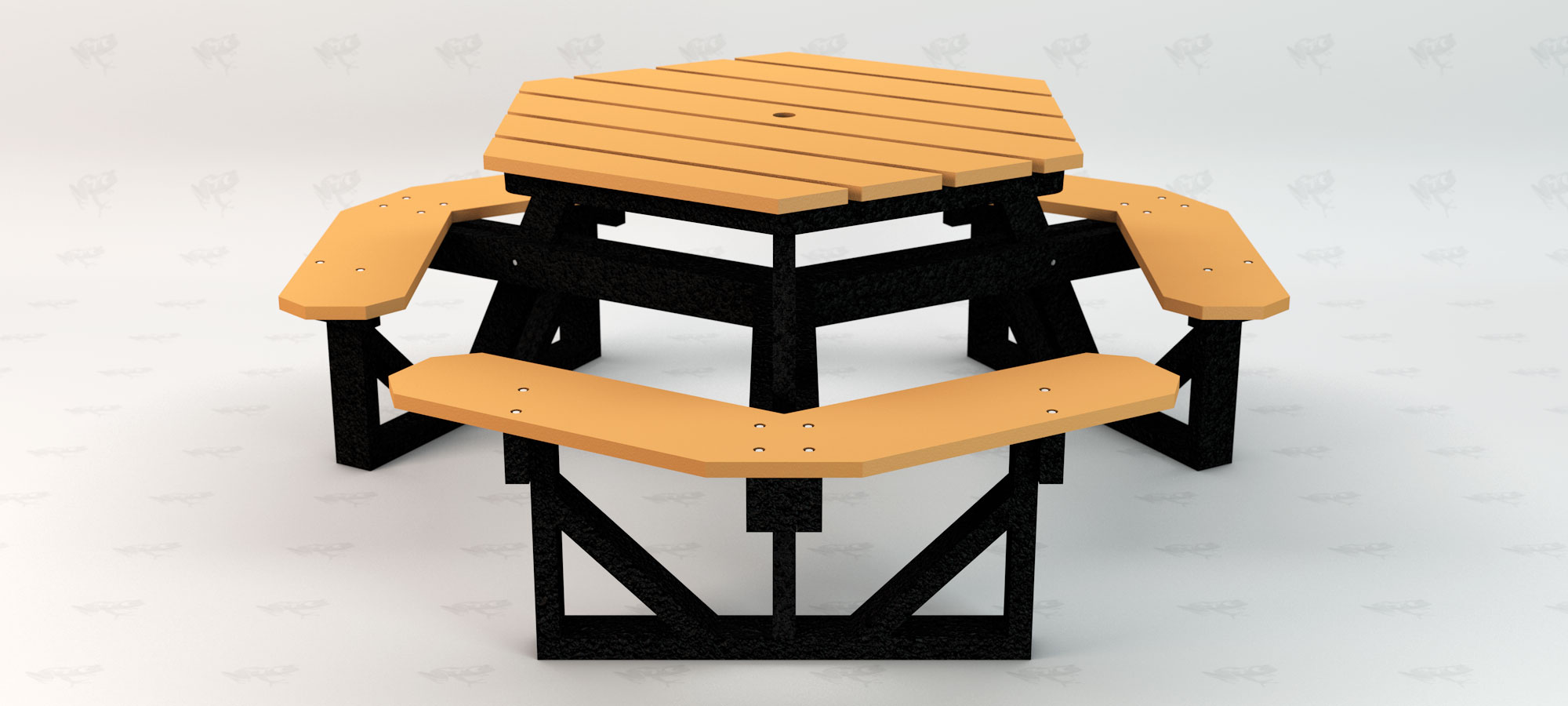 Hex Table Front